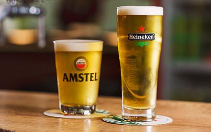 Chopp Heineken ou Amstel