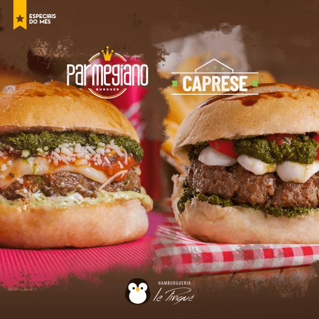Especiais do Mês - Caprese e Parmegiano Burguer