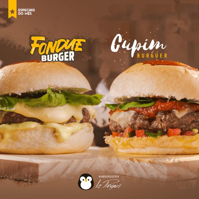Especiais do Mês - Cupim Burguer e Fondue Burger