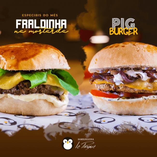 Especiais do Mês - Fraldinha na Mostarda e Pig Burger