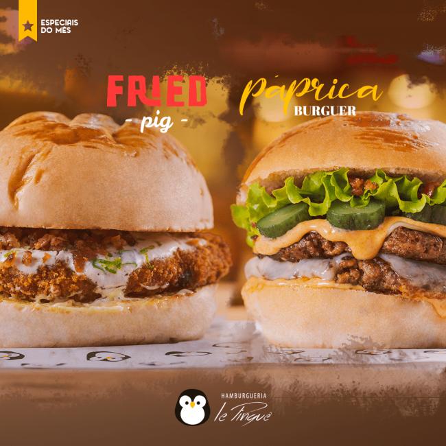 Especiais do Mês - Fried Pig e Páprica Burguer