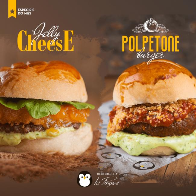 Especiais do Mês - Jelly Cheese e Polpetone Burger