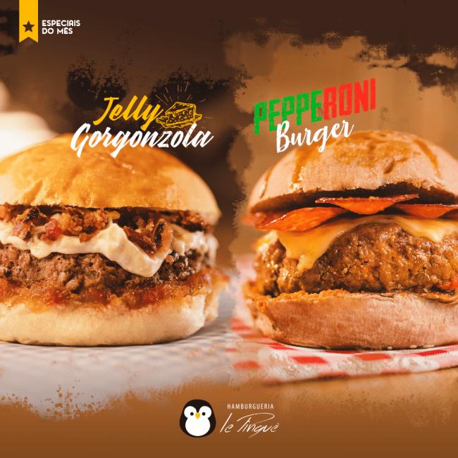 Especiais do Mês - Jelly Gorgonzola e Pepperoni Burger