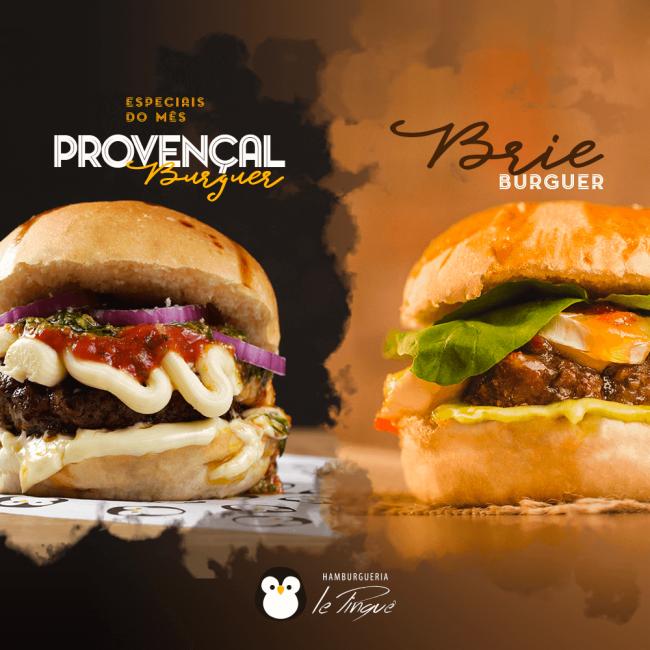Especiais do Mês - Provençal Burguer e Brie Burguer