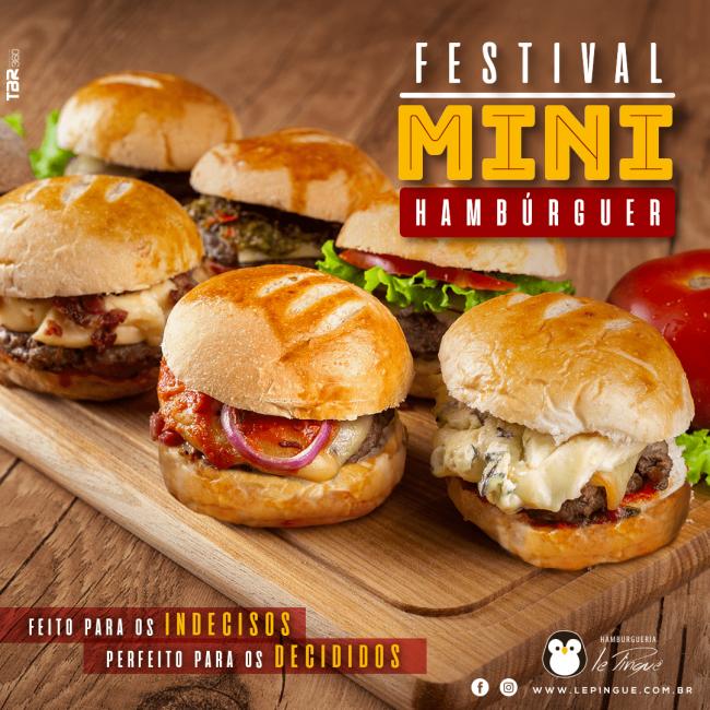 Festival de Mini-Hambúrguer Le Pinguê