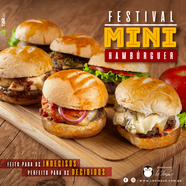 Festival Mini Hambúrguer