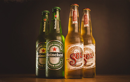 Heineken e Sol Long Neck