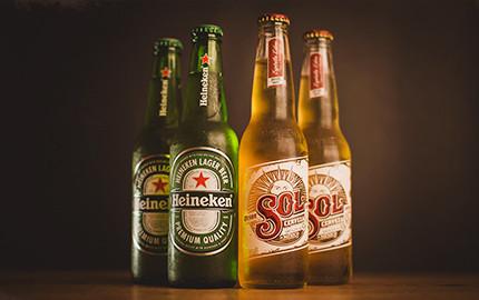 Heineken e Sol Long Neck