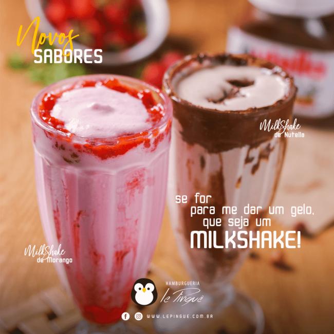 Novos Sabores de MilkShake